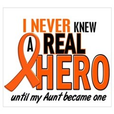 Never Knew A Hero 2 ORANGE (Aunt) Wall Art Poster