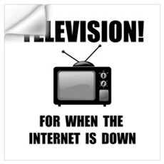Television Internet Wall Art Wall Decal