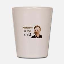 """Nietzsche Is The Shit!"" Shot Glass"