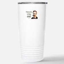 """Nietzsche Is The Shit!"" Travel Mug"