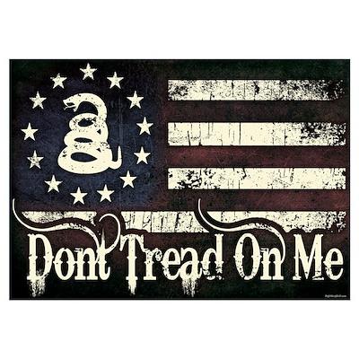 DTOM - Snake Flag Wall Art Poster