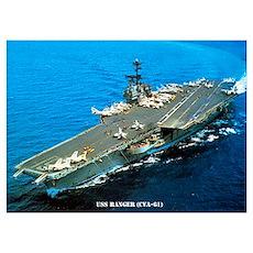 USS RANGER Wall Art Poster