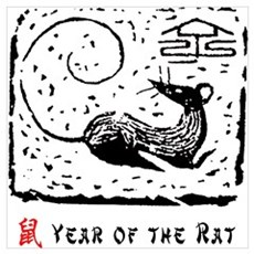 Year of The Rat Wall Art Poster