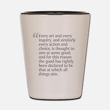 Aristotle Every art Shot Glass