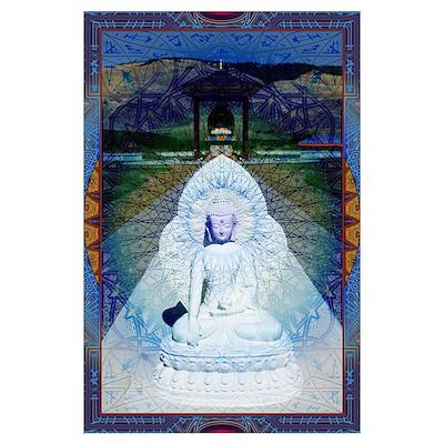 Sacred Buddha Mandala Wall Art Poster