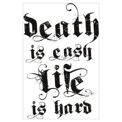 Life & Death Wall Art Poster