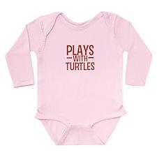 PLAYS Turtles Long Sleeve Infant Bodysuit