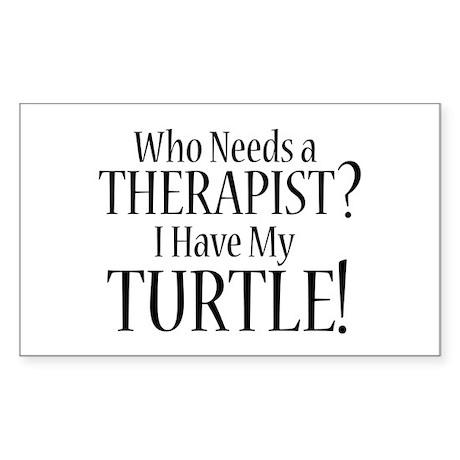 THERAPIST Turtle Sticker (Rectangle)