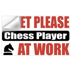 Chess Player Work Wall Art Wall Decal