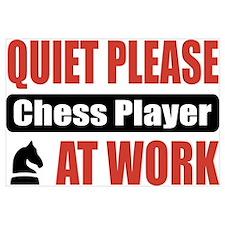 Chess Player Work Wall Art