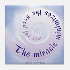 ACIM Keepsake Tile Coaster- Miracle minimizes