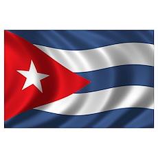 Flag of Cuba Wall Art Poster