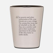 Aristotle In poverty Shot Glass