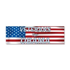 Veterans For Obama Car Magnet 10 x 3