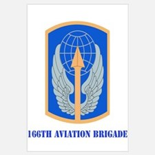 SSI - 166th Aviation Brigade with Text Mini Poster