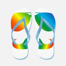 Pride sunglasses Rainbow mustache Flip Flops