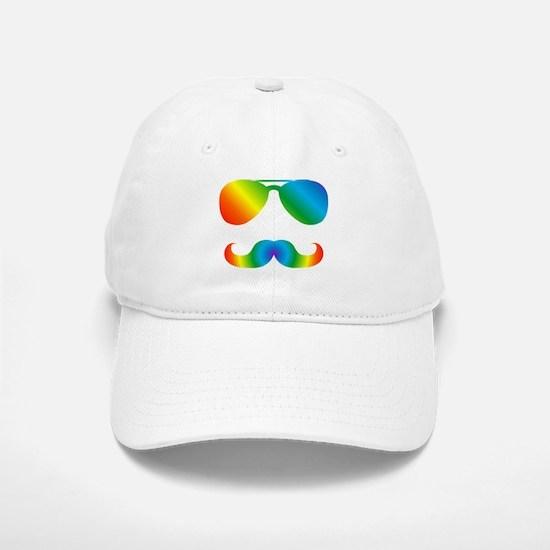 Pride sunglasses Rainbow mustache Baseball Baseball Cap