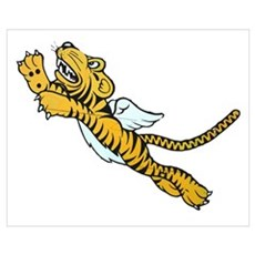 Flying Tiger Wall Art Poster