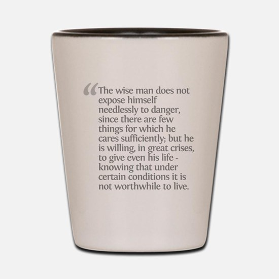 Aristotle The wise man Shot Glass