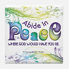 ACIM Keepsake Tile Coaster- Abide in peace