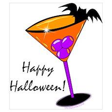 Halloween Cocktail Wall Art Poster