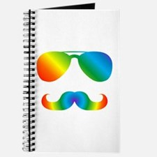 Pride sunglasses Rainbow mustache Journal
