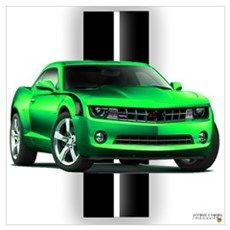 New Camaro Green Wall Art Canvas Art