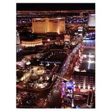 Las Vegas Strip Wall Art Framed Print