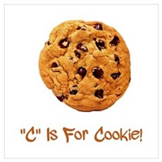 C Is For Cookie Wall Art Poster