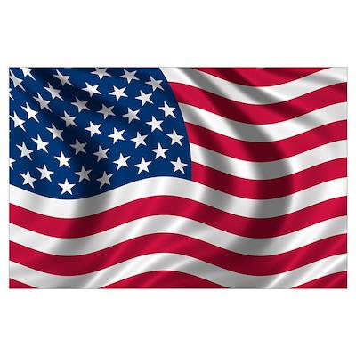 American Flag Wall Art Poster