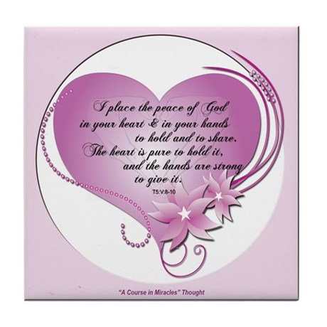ACIM Keepsake Tile Coaster- The peace of God