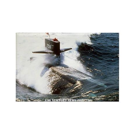 USS NEWPORT NEWS Rectangle Magnet