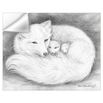 Arctic Fox Family ~ Wall Art Wall Decal
