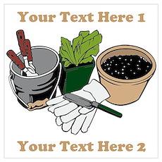 Gardening. Wall Art Poster