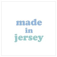 Made in Jersey Wall Art Poster