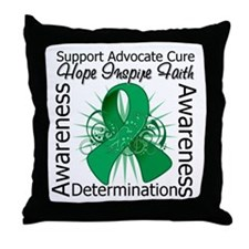 Liver Cancer Hope Inspiring Throw Pillow