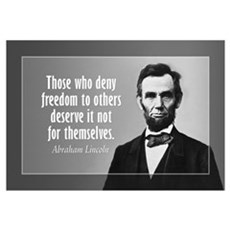 Abe Lincoln Quote on Slavery Wall Art Framed Print
