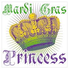 Mardi Gras Princess Wall Art Poster
