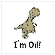 Dino Oil Wall Art Poster