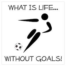 Soccer...Goals! Wall Art Poster