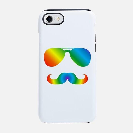 Pride sunglasses Rainbow musta iPhone 7 Tough Case