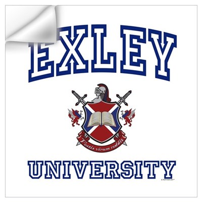 EXLEY University Wall Art Wall Decal