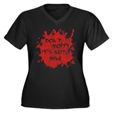 Not My Blood Women's Plus Size V-Neck Dark T-Shirt