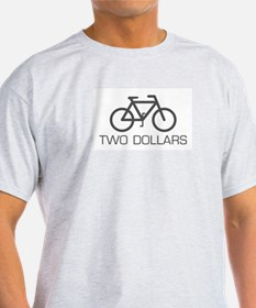 Two Dollars Ash Grey T-Shirt