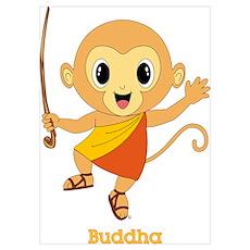 Buddha Monkey™ Wall Art Poster