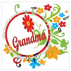 Wonderful Grandma Wall Art Poster