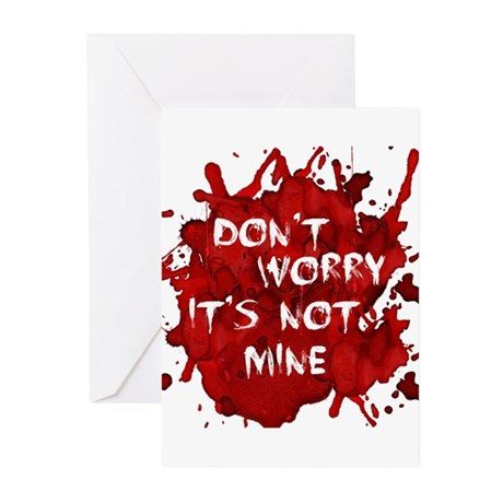 Not My Blood Greeting Cards (Pk of 10)