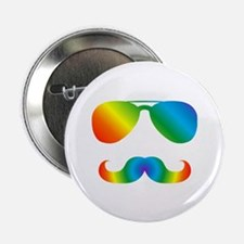 "Pride sunglasses Rainbow m 2.25"" Button (100 pack)"