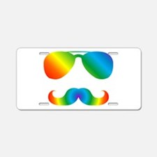Pride sunglasses Rainbow mu Aluminum License Plate