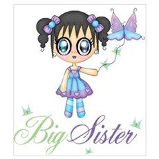 Big Sister Fairy Butterfly Wall Art Poster